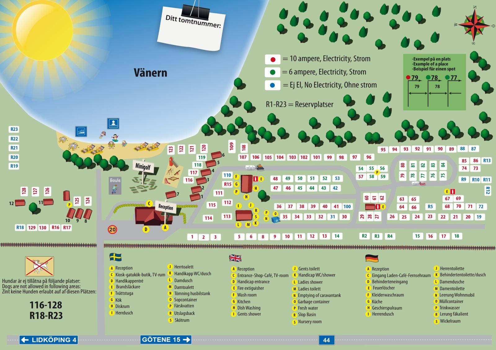 Karta Boras Camping.Filsbacks Camping Vid Vanern